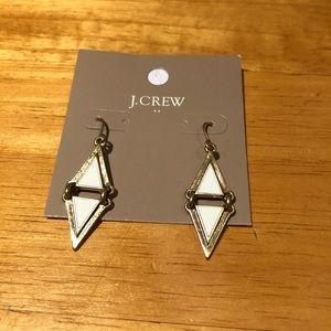 J crew geometric triangle earrings